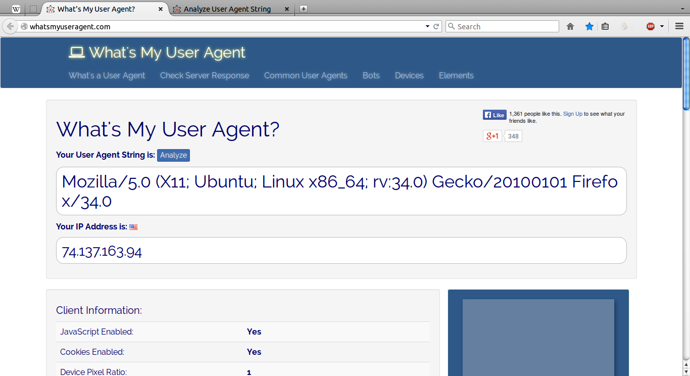 User Agent in Firefox: what it is, how to install and how to use it